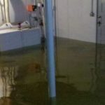 OnGuard Generators flooded basement photo with washer and dryer