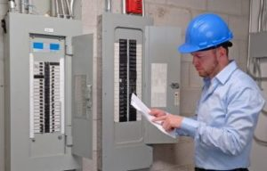 OnGuard Generators technician with circuit list
