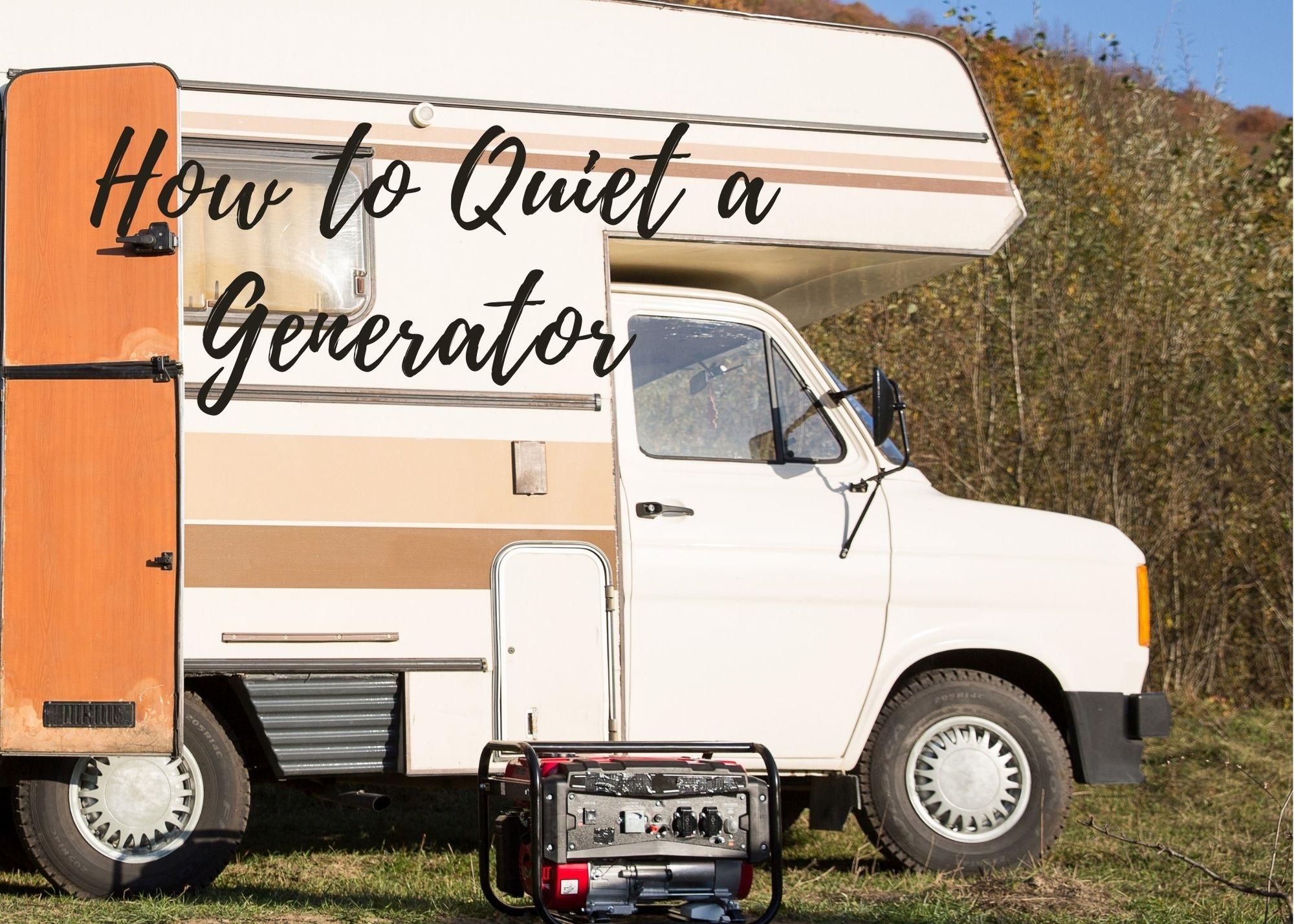 how to quiet a generator at a campsite