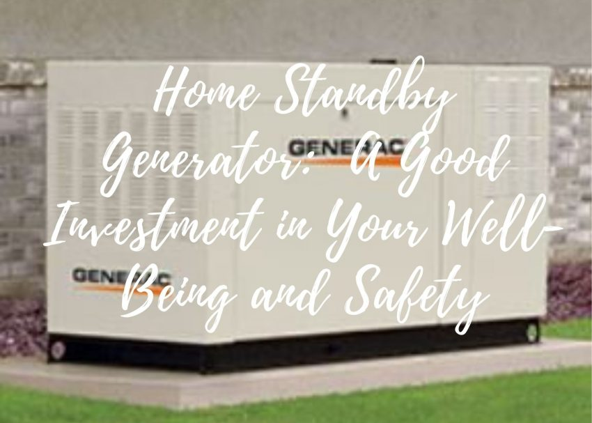 Home Standby Generator Investment